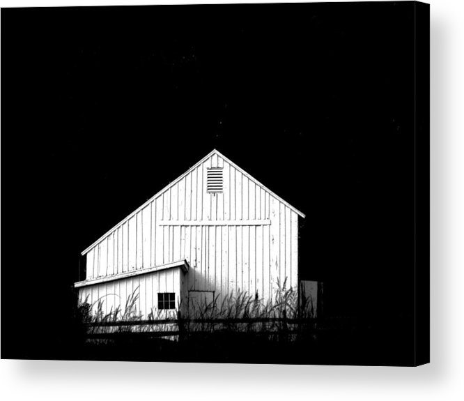White Barns Acrylic Print featuring the photograph Nightfall by Angela Davies