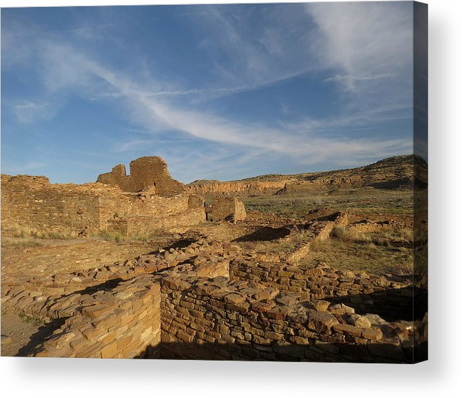 Chaco Acrylic Print featuring the photograph Pueblo Bonito Walls And Rooms by Feva Fotos
