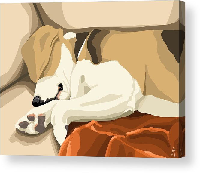 Digital Acrylic Print featuring the painting Rest by Veronica Minozzi