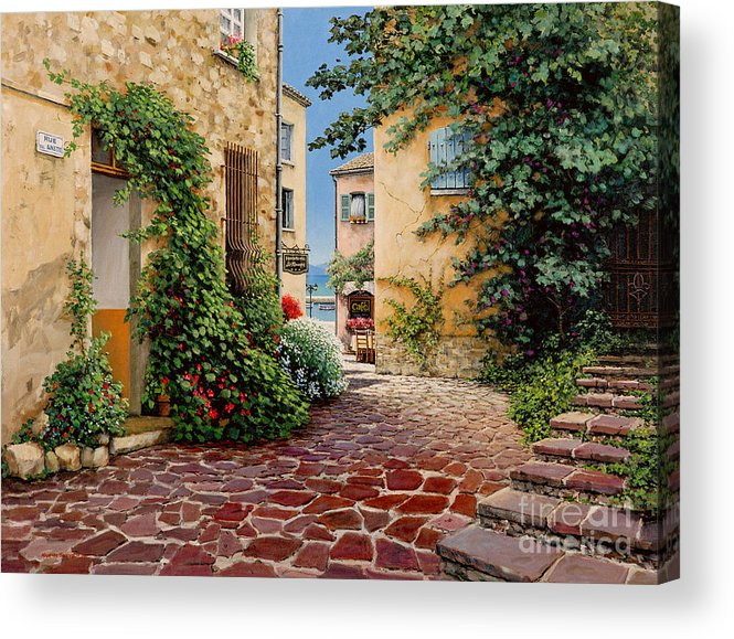 French Village Acrylic Print featuring the painting Rue Anette by Michael Swanson