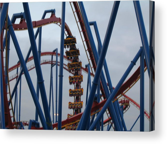 Six Acrylic Print featuring the photograph Six Flags Great Adventure - Medusa Roller Coaster - 12125 by DC Photographer