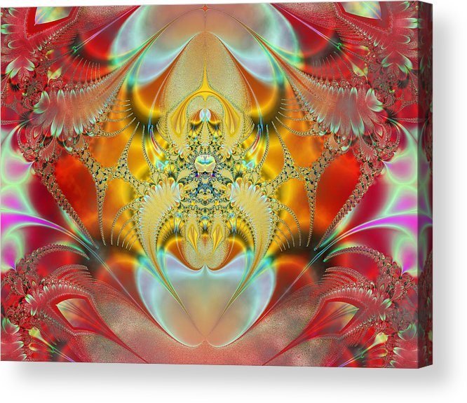 Abstract Acrylic Print featuring the digital art Sleeping Genie by Ian Mitchell