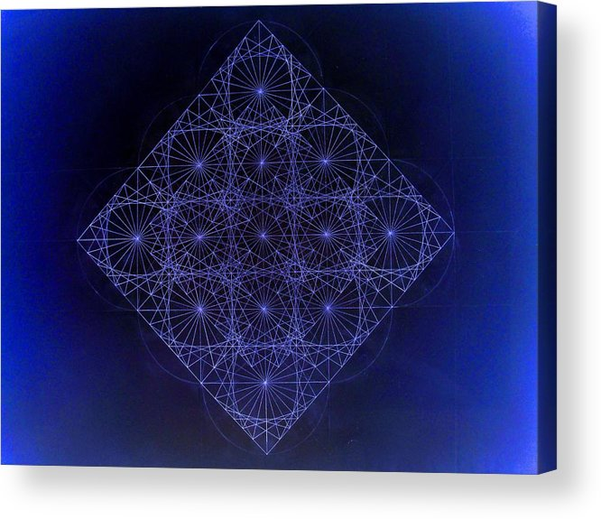 Fractal Acrylic Print featuring the drawing Space Time Sine Cosine And Tangent Waves by Jason Padgett