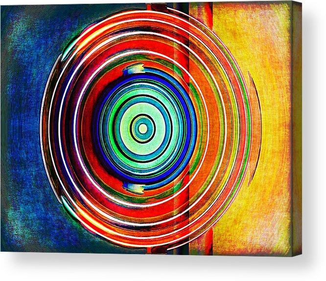 Abstract Acrylic Print featuring the digital art Spot On by Wendy J St Christopher