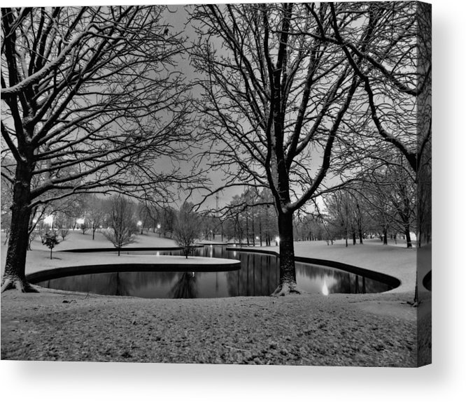 Jefferson National Expansion Memorial Acrylic Print featuring the photograph St. Louis - Winter At The Arch 001 by Lance Vaughn