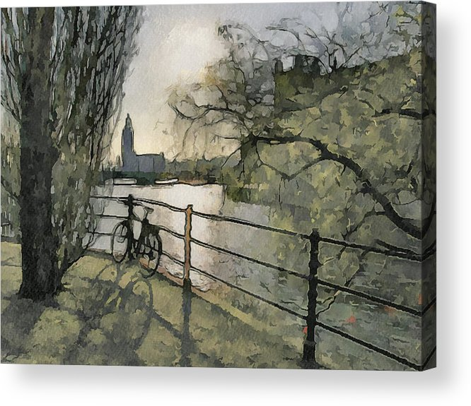 Stockholm Acrylic Print featuring the digital art Stockholm 10 by Yury Malkov