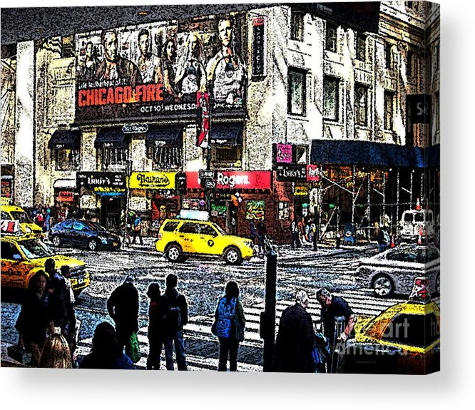 New York Acrylic Print featuring the photograph Streets Of Manhattan 20 by Mario Perez