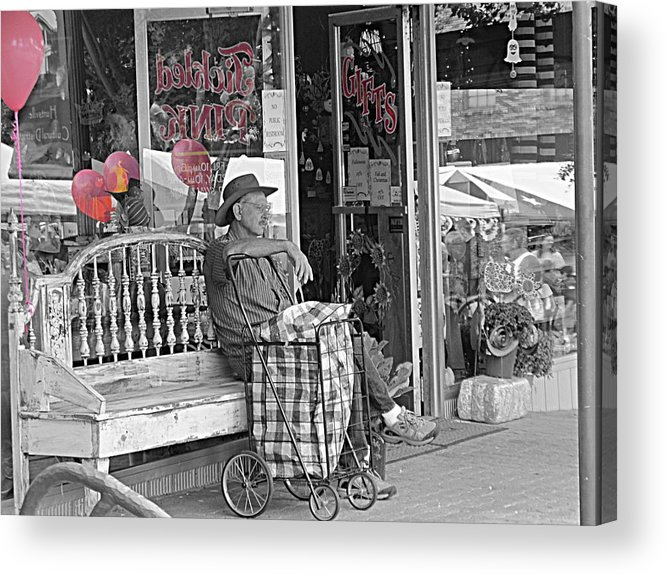 Pink Acrylic Print featuring the photograph Tickled Pink by Bartz Johnson