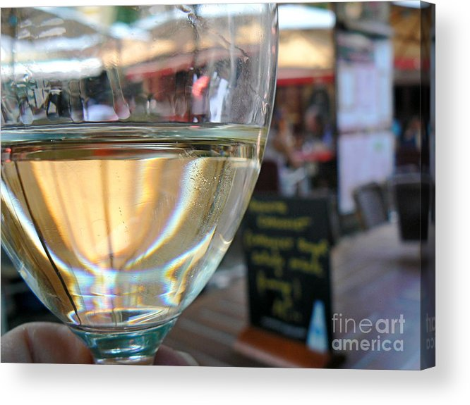 Wine Acrylic Print featuring the photograph Vin Blanc by France Art