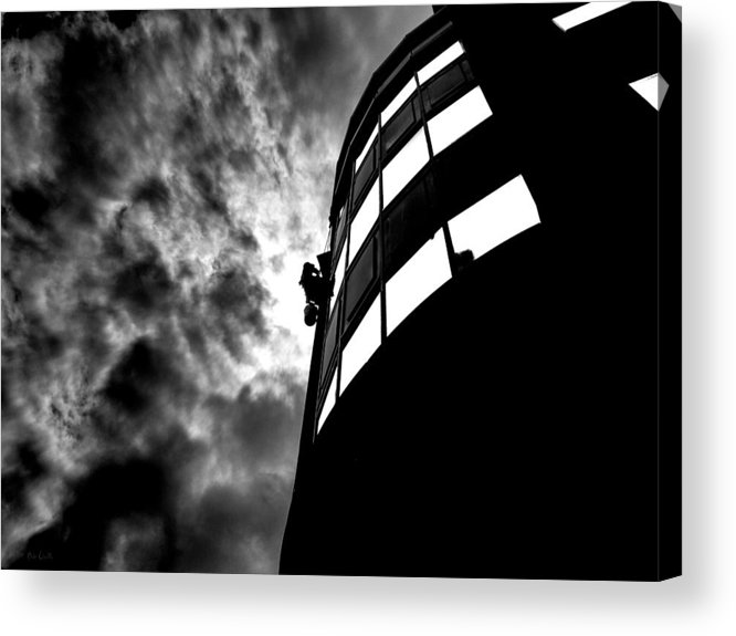 Window Acrylic Print featuring the photograph Washing Windows In The City by Bob Orsillo
