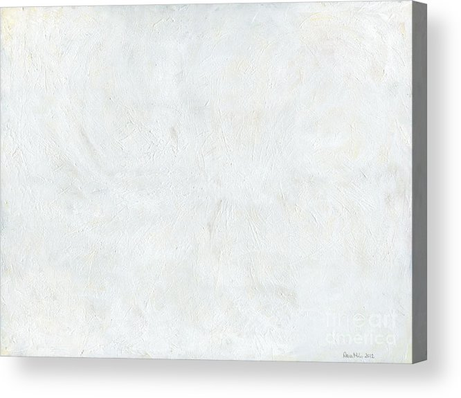 White Acrylic Print featuring the painting White Color Of Energy by Ania Milo