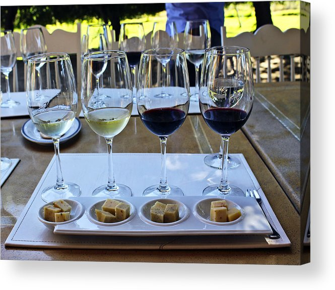 Wine Acrylic Print featuring the photograph Wine And Cheese Tasting by Kurt Van Wagner