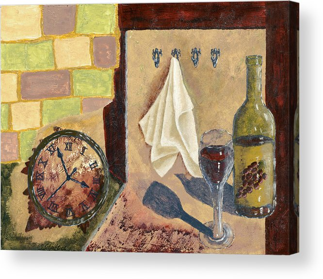 Acrylic Acrylic Print featuring the painting Kitchen Collage by Susan Schmitz