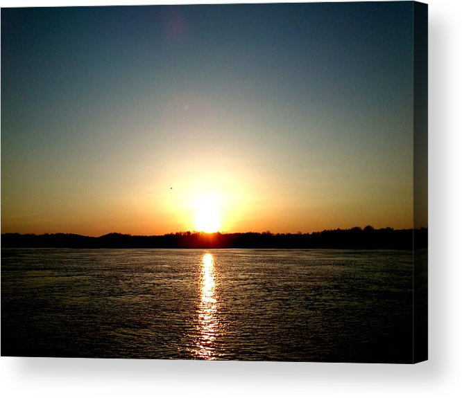 Sun Acrylic Print featuring the photograph Sunset by Lucy D
