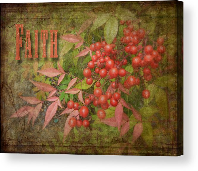 Cindy Acrylic Print featuring the photograph Faith Spring Berries by Cindy Wright