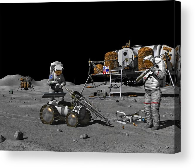 Equipment Acrylic Print featuring the photograph Moon Exploration, Artwork by Walter Myers