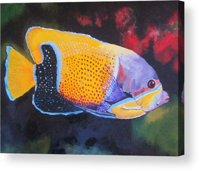 Fish Acrylic Print featuring the painting Sutton Fish by Terry Gill