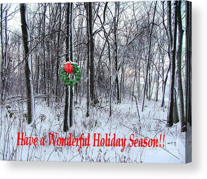 Acrylic Print featuring the photograph Tyra's Woods At Christmas by Julie Dant