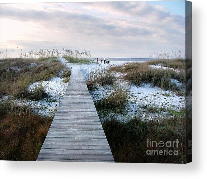 Dunes Acrylic Print featuring the photograph Across The Dunes by Julie Dant