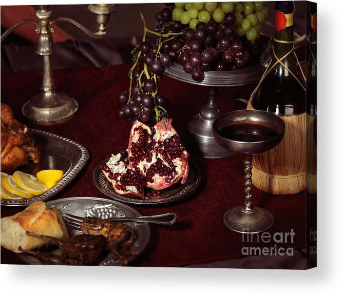 Feast Acrylic Print featuring the photograph Artistic Food Still Life by Oleksiy Maksymenko