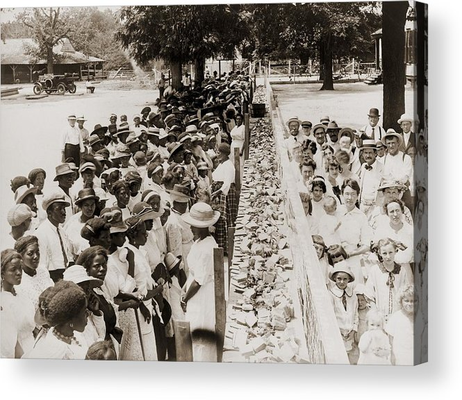 History Acrylic Print featuring the photograph A Properly Segregated Summer Social by Everett
