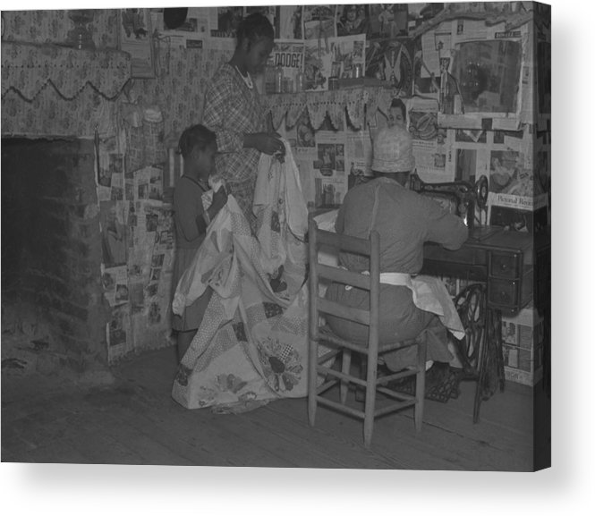 History Acrylic Print featuring the photograph African American Mother Is Assisted by Everett