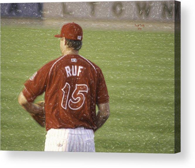 Baseball Acrylic Print featuring the photograph Babe Ruf by Trish Tritz