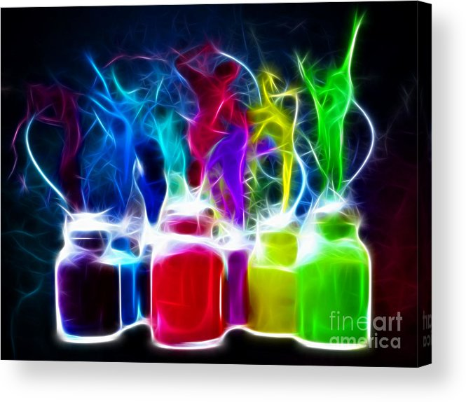 Colors Acrylic Print featuring the mixed media Ballet Of Colors by Pamela Johnson