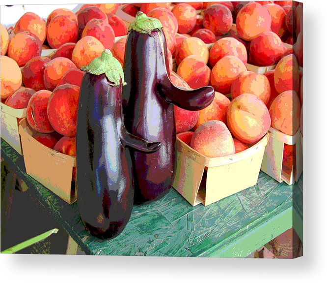 Eggplant Acrylic Print featuring the mixed media Bob Hope And Friend by Catherine ONeil