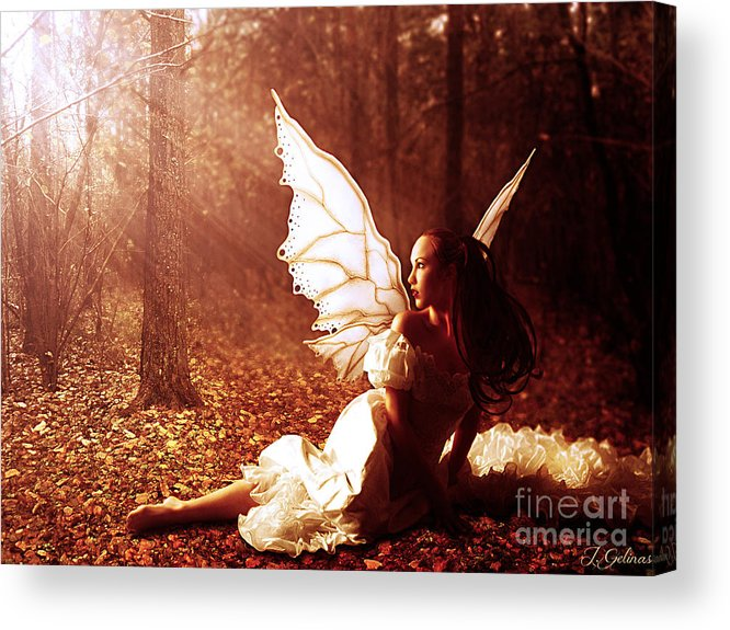 Fairy Acrylic Print featuring the digital art Called Home by Jennifer Gelinas