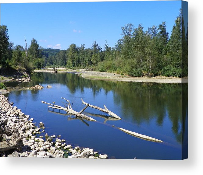 Digital Photography Acrylic Print featuring the photograph Chehalis River Washington by Laurie Kidd