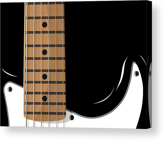 electric Guitar Acrylic Print featuring the digital art Electric Guitar by Michael Tompsett