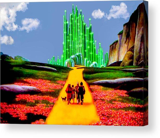 Wizard Of Oz Acrylic Print featuring the photograph Emerald City by Tom Zukauskas