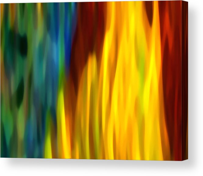 Fire Acrylic Print featuring the painting Fire And Water by Amy Vangsgard