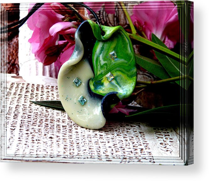 Jewel Acrylic Print featuring the photograph Handmade Art In Nature by Chara Giakoumaki