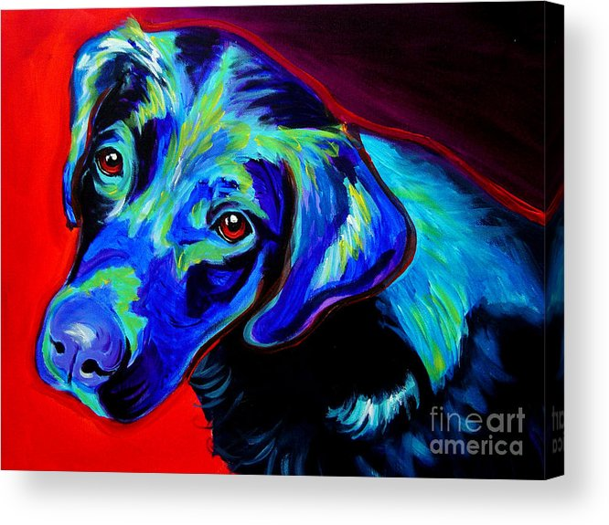Dog Acrylic Print featuring the painting Lab - Canyon by Alicia VanNoy Call