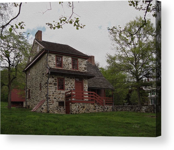 Historic Acrylic Print featuring the photograph Layfayette's Headquarters At Brandywine by Gordon Beck