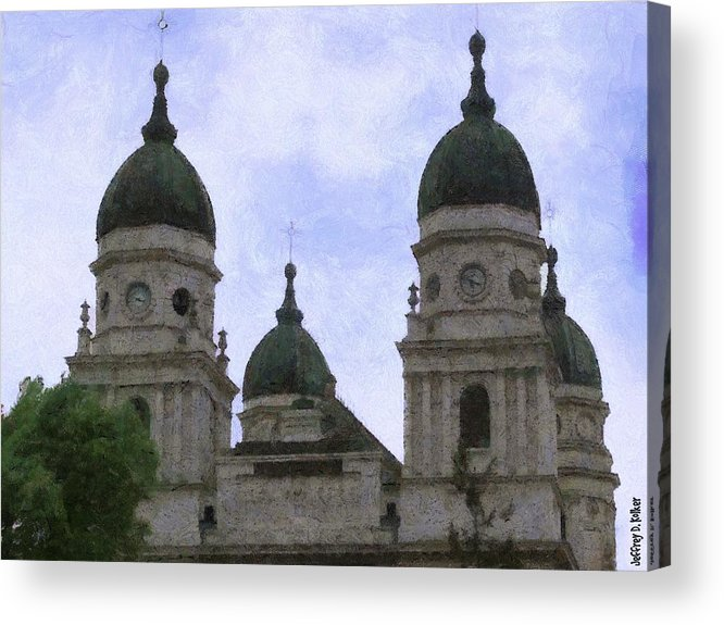 Chapel Acrylic Print featuring the painting Metropolitan Cathedral by Jeff Kolker