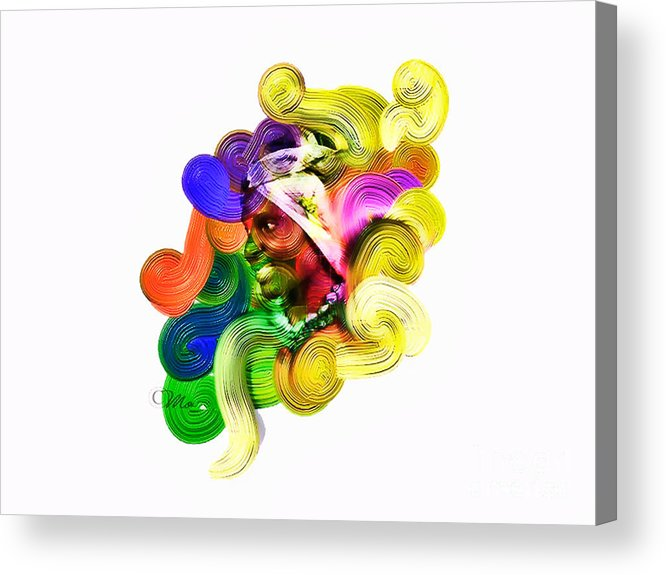 Heart Acrylic Print featuring the digital art One Part 2 by Mo T