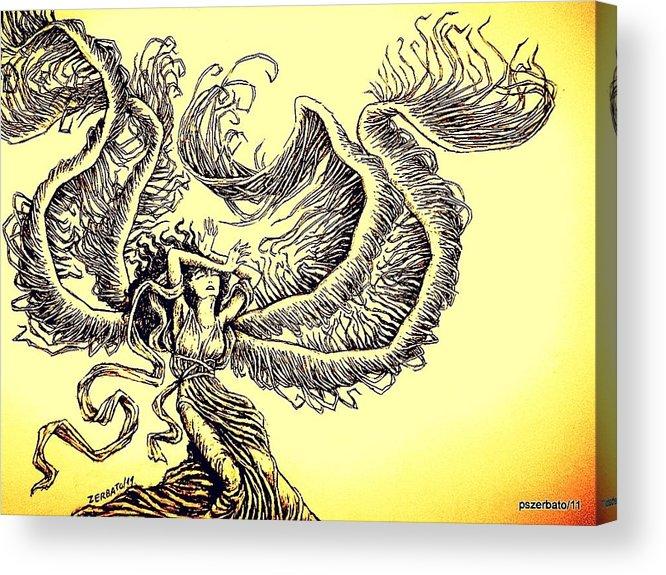 Wind Acrylic Print featuring the digital art Wind by Paulo Zerbato