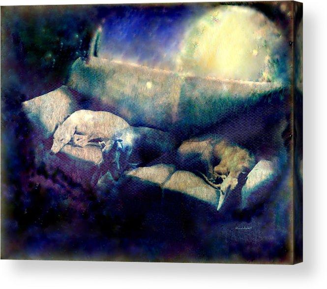 Acrylic Print featuring the mixed media Nap Time Dreams by YoMamaBird Rhonda