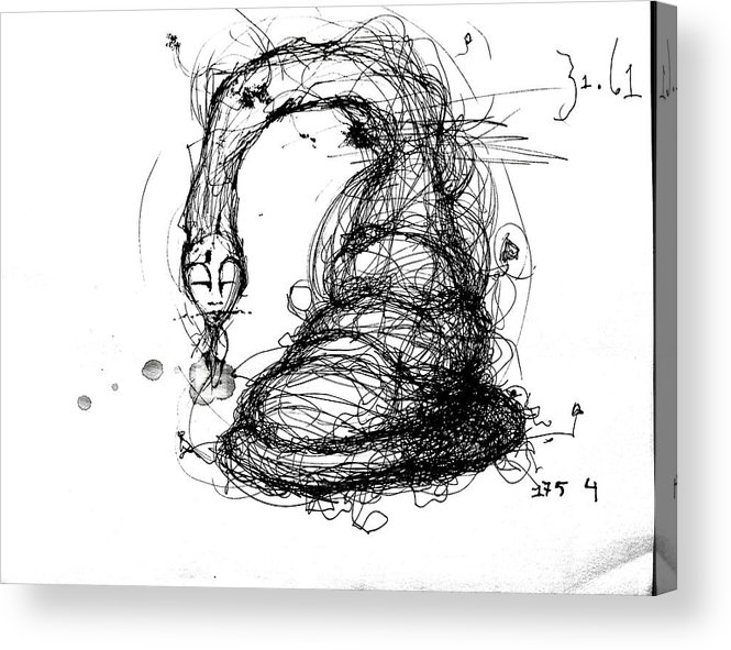 Pen And Ink Acrylic Print featuring the mixed media 3161 Feeling Slow by Mark M Mellon