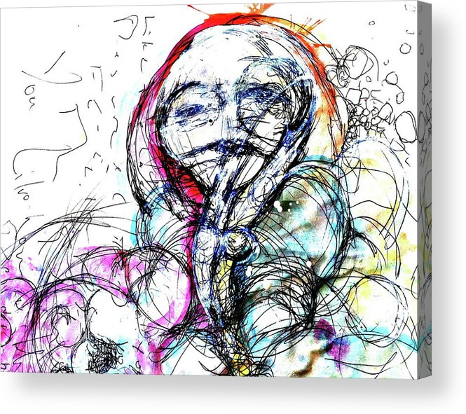 Pen And Ink Acrylic Print featuring the painting Habit by Mark M Mellon
