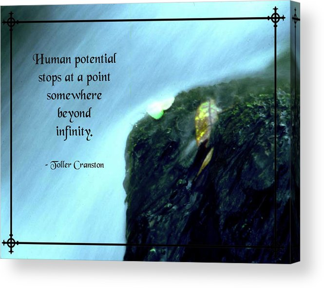 Quotation Acrylic Print featuring the photograph Human Potential by Mike Flynn