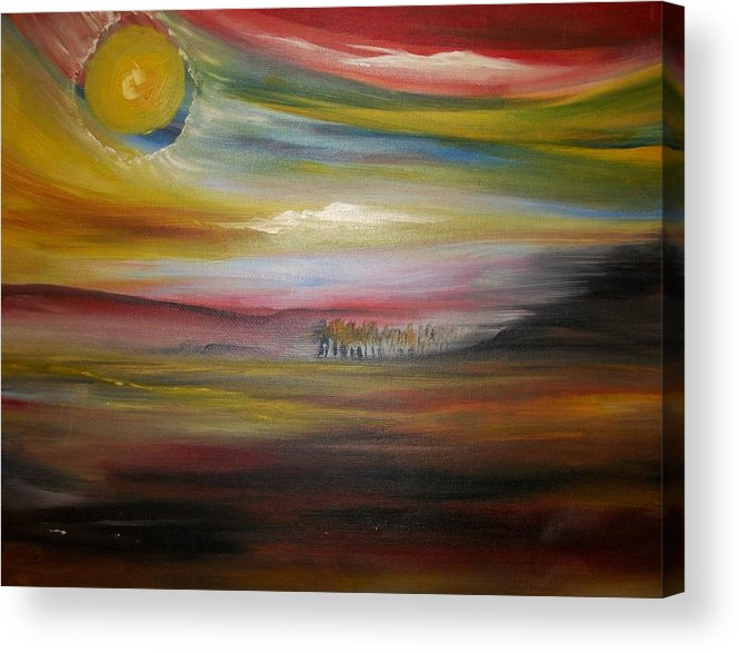 Landscape Acrylic Print featuring the painting Inside The Sunset by Jake Huenink