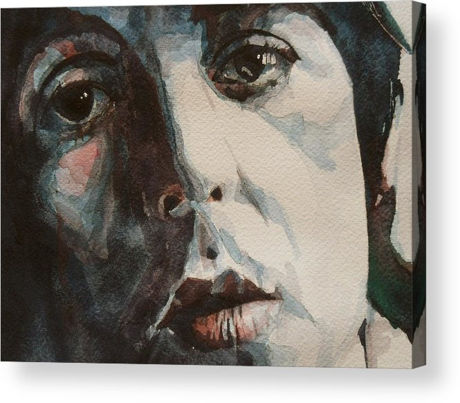 Paul Mccartney Acrylic Print featuring the painting Let Me Roll It by Paul Lovering