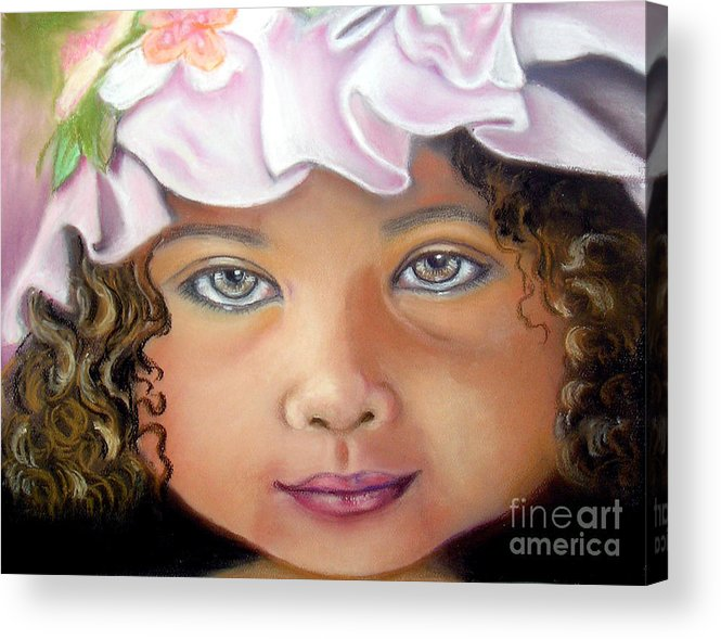 Hat Acrylic Print featuring the pastel Love My New Hat by Lamarr Kramer