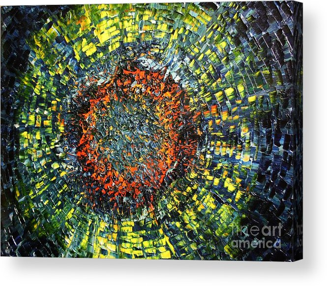 Supernova Acrylic Print featuring the painting Physiological Supernova by Michael Kulick