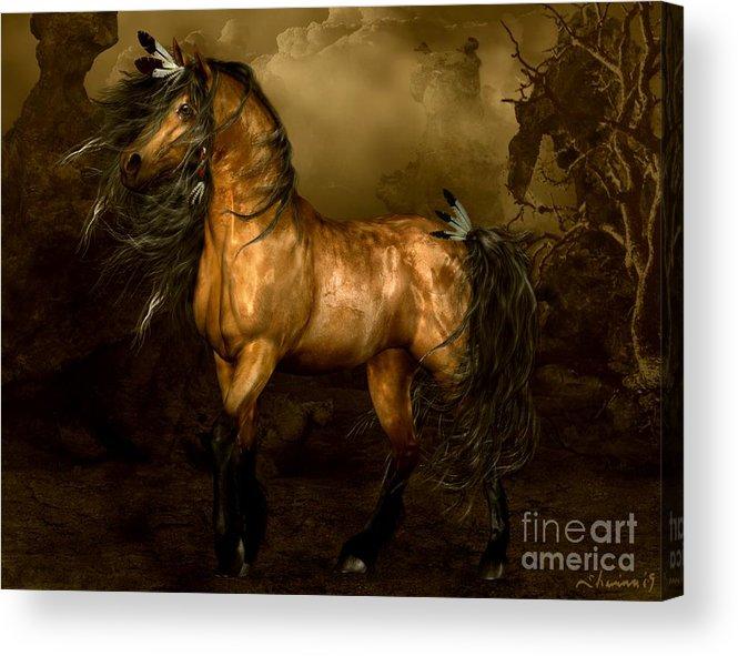 Shikoba Acrylic Print featuring the digital art Shikoba Choctaw Horse by Shanina Conway