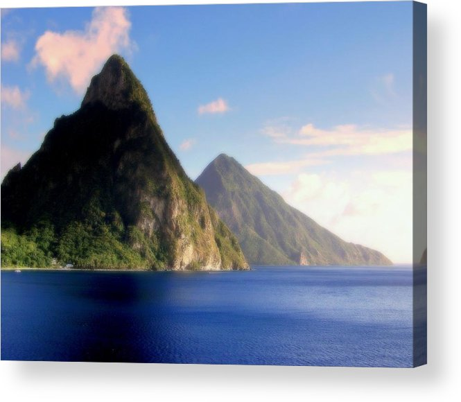 Piton Mountains Acrylic Print featuring the photograph Splendor by Karen Wiles